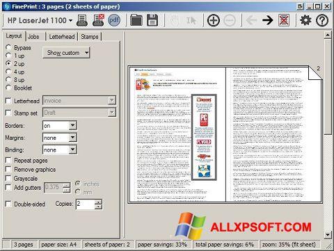 截圖 FinePrint Windows XP