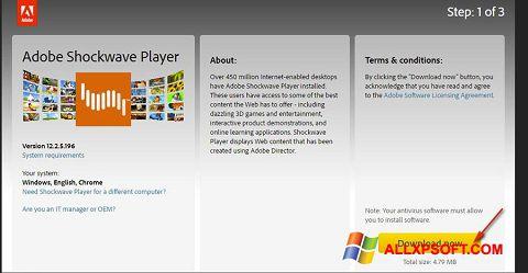 截圖 Adobe Shockwave Player Windows XP