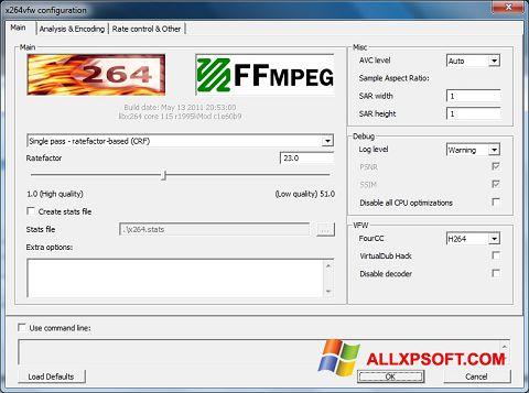 截圖 x264 Video Codec Windows XP