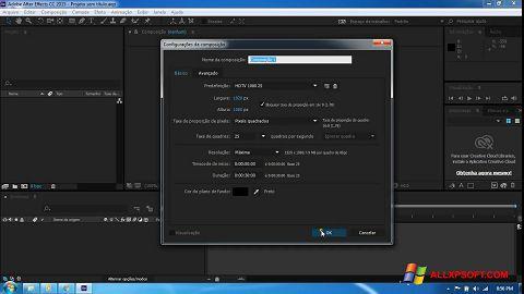 截圖 Adobe After Effects CC Windows XP