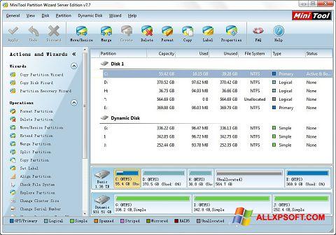 截圖 MiniTool Partition Wizard Windows XP