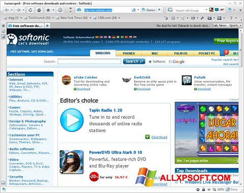 截圖 Lunascape Windows XP