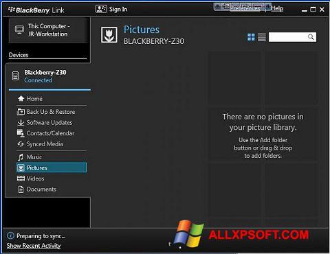 截圖 BlackBerry Link Windows XP