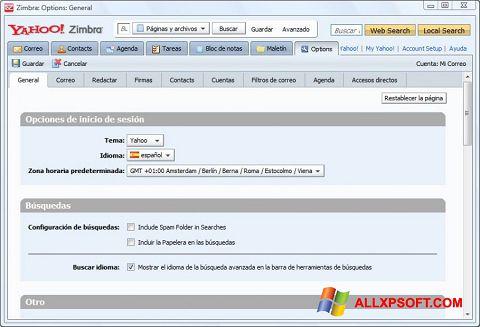 截圖 Zimbra Desktop Windows XP