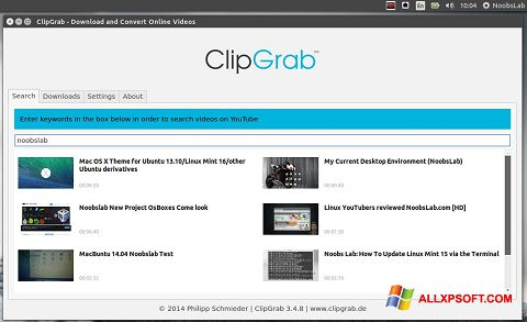 截圖 ClipGrab Windows XP