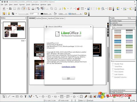 截圖 LibreOffice Windows XP