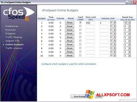 截圖 cFosSpeed Windows XP