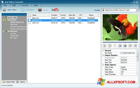 截圖 Any Video Converter Windows XP