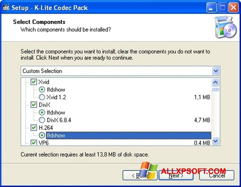 截圖 K-Lite Codec Pack Windows XP