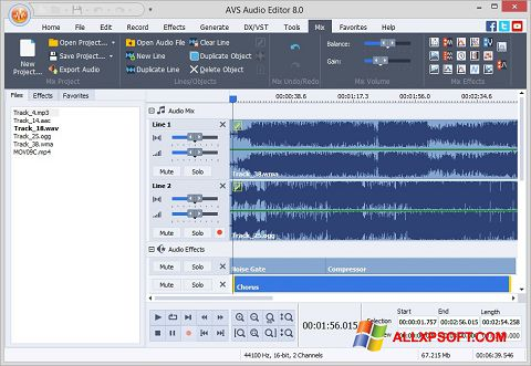 截圖 AVS Audio Editor Windows XP