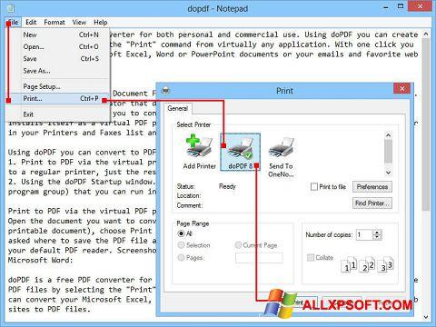 截圖 doPDF Windows XP