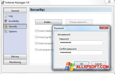 截圖 Ardamax Keylogger Windows XP