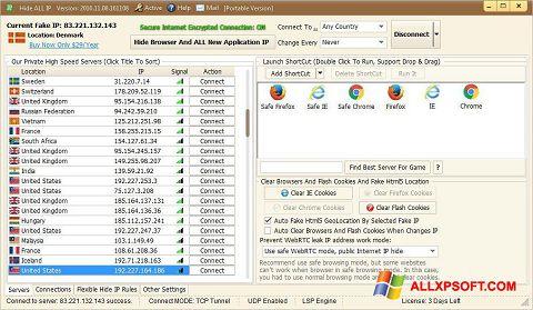 截圖 Hide ALL IP Windows XP