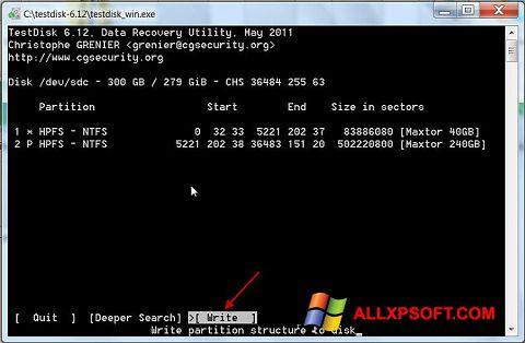 截圖 TestDisk Windows XP