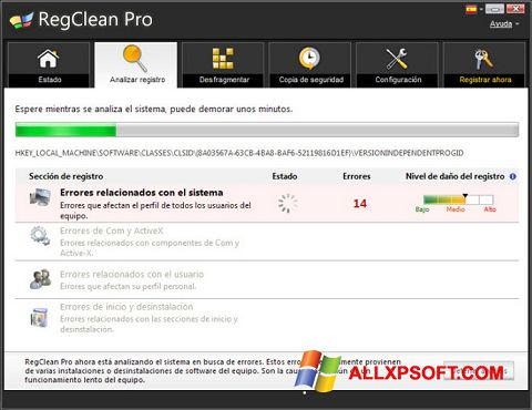 截圖 RegClean Pro Windows XP