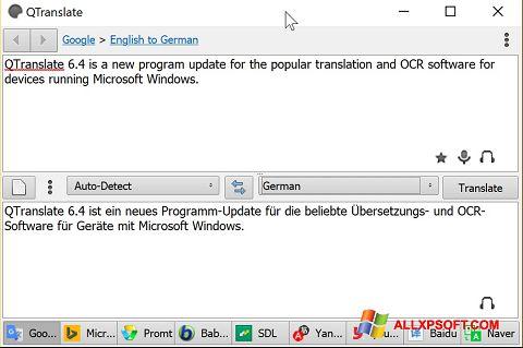 截圖 QTranslate Windows XP