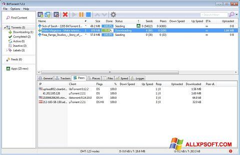 截圖 BitTorrent Windows XP