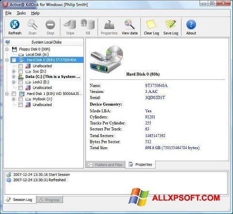 截圖 Active KillDisk Windows XP
