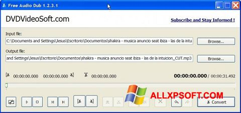 截圖 Free Audio Dub Windows XP