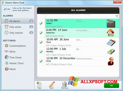 截圖 Atomic Alarm Clock Windows XP