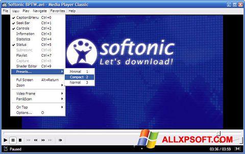 截圖 Media Player Classic Windows XP