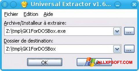 截圖 Universal Extractor Windows XP