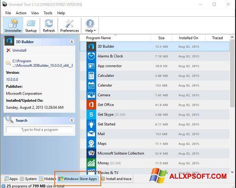 截圖 Uninstall Tool Windows XP