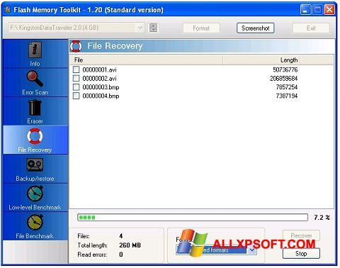 截圖 Flash Memory Toolkit Windows XP