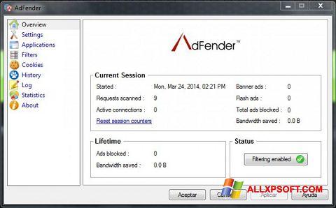 截圖 AdFender Windows XP