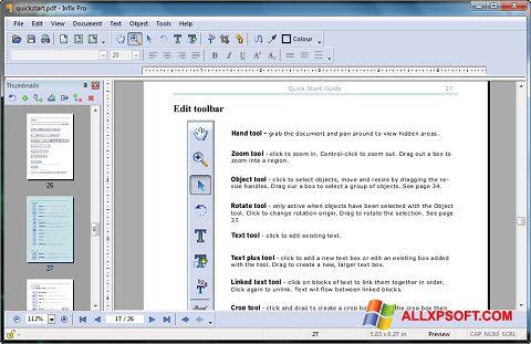 截圖 Infix PDF Editor Windows XP