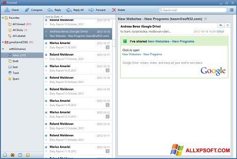 截圖 FoxMail Windows XP