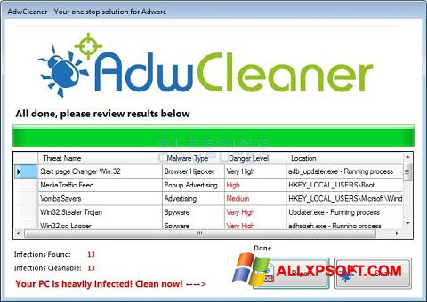 截圖 AdwCleaner Windows XP