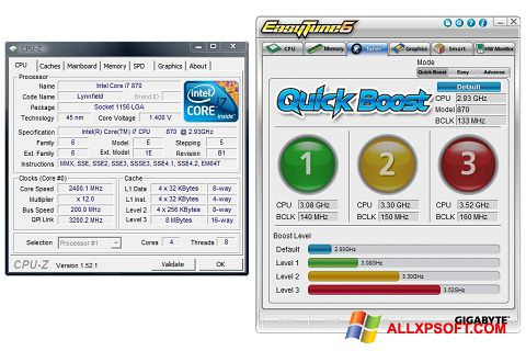截圖 EasyTune Windows XP