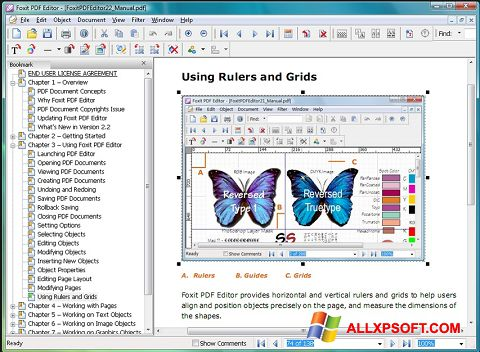 截圖 Foxit PDF Editor Windows XP