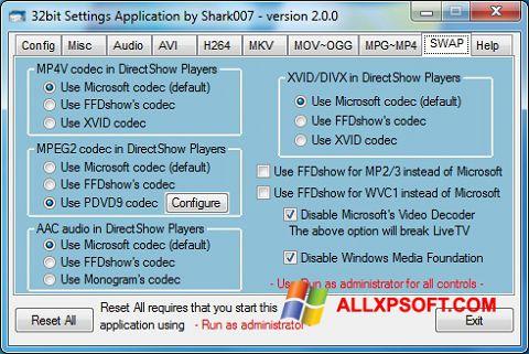 截圖 ADVANCED Codecs Windows XP