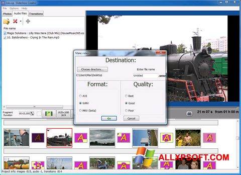截圖 Bolide Slideshow Creator Windows XP