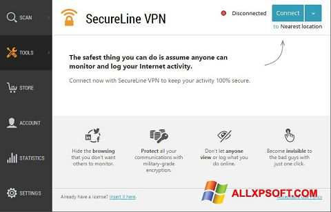 截圖 Avast SecureLine VPN Windows XP
