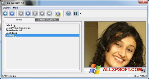 截圖 Fake Webcam Windows XP