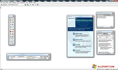 截圖 Macromedia Dreamweaver Windows XP