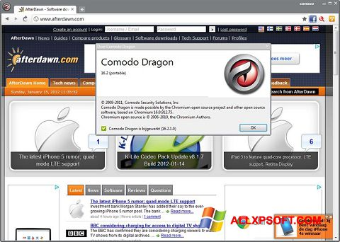 截圖 Comodo Dragon Windows XP