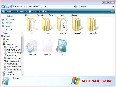截圖 Windows 7 USB DVD Download Tool Windows XP