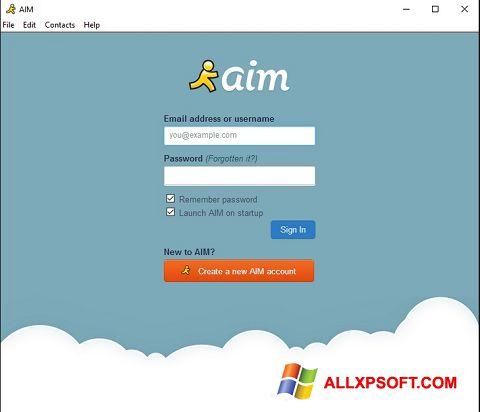 截圖 AOL Instant Messenger Windows XP