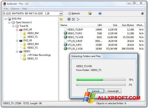 截圖 IsoBuster Windows XP