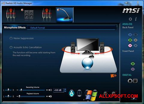 截圖 Realtek Audio Driver Windows XP