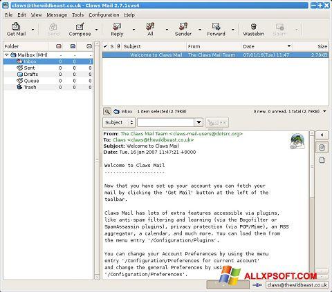 截圖 Claws Mail Windows XP