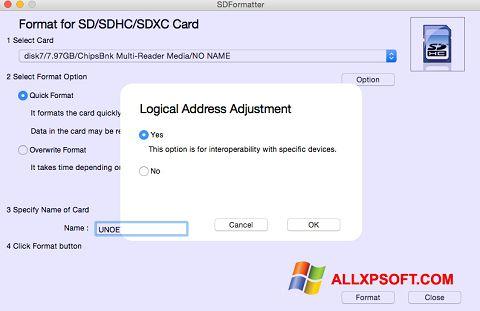 截圖 SDFormatter Windows XP