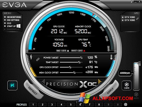 截圖 EVGA Precision Windows XP