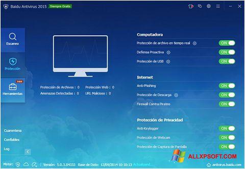 截圖 Baidu Antivirus Windows XP