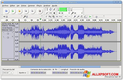 截圖 Audacity Windows XP