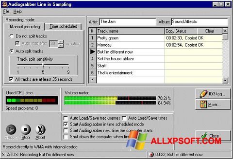 截圖 Audiograbber Windows XP